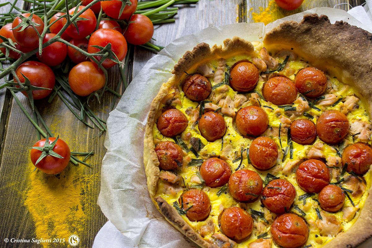 Connu Quiche con salmone, yogurt greco ed erba cipollina - dedicata alla  YV92