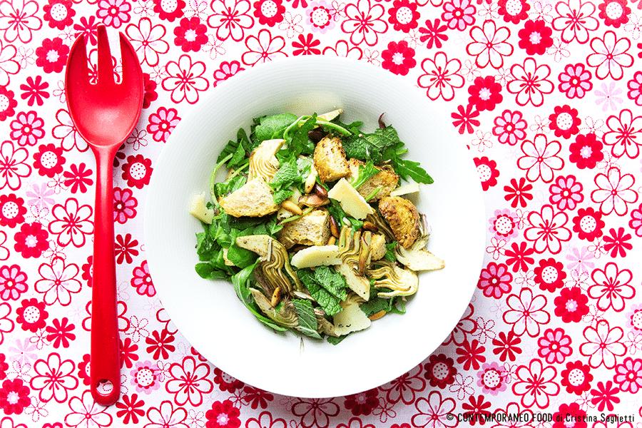 insalata-carciofi-menta-pecorino-2-ricetta-contorni-contemporaneo-food