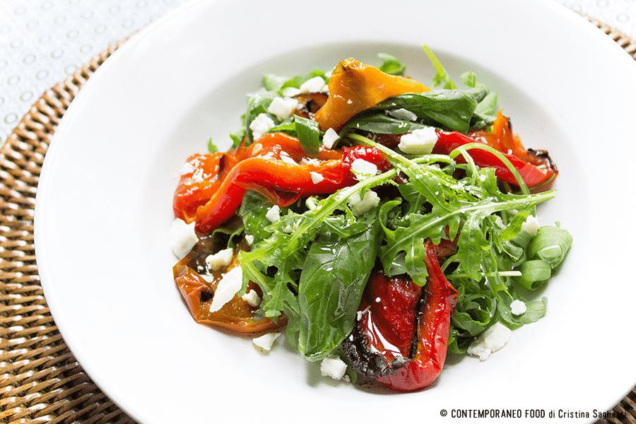 insalata-peperoni-rucola-basilico-ricetta-facile-contemporaneo-food