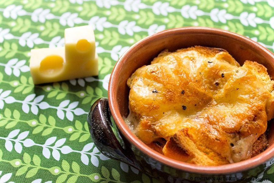 pane-birra-formaggio-pasticcio-al-forno-primi-piatto unico-contemporaneo-food
