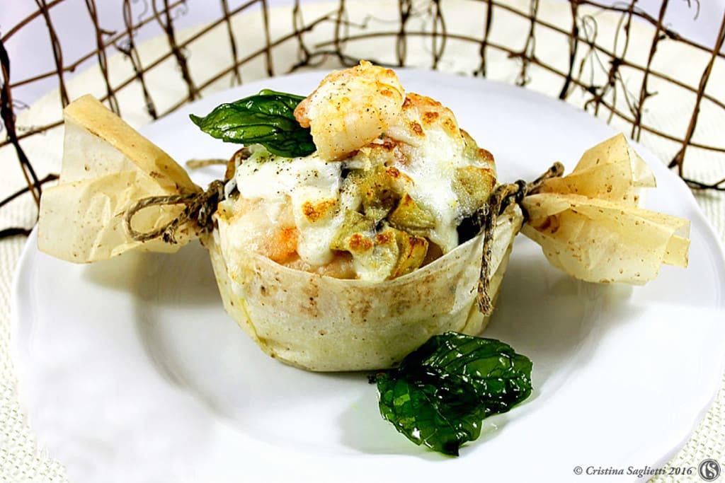 cestino-riso-gratinato-con-gamberi-melanzane-mozzarella-contemporaneo-food