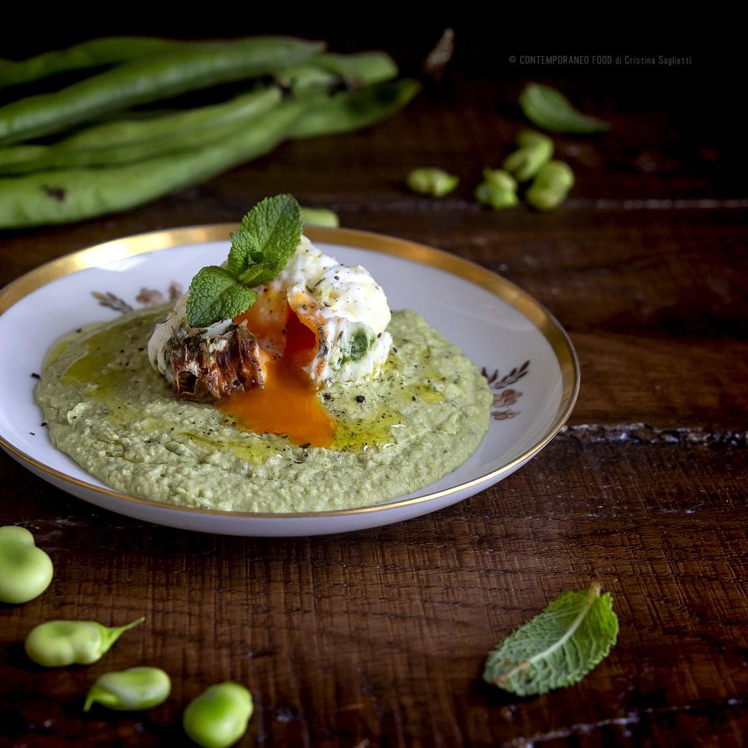 uovo-poche-su-crema-fave-ricetta-facile-veloce-vegetariana-contemporaneo-food