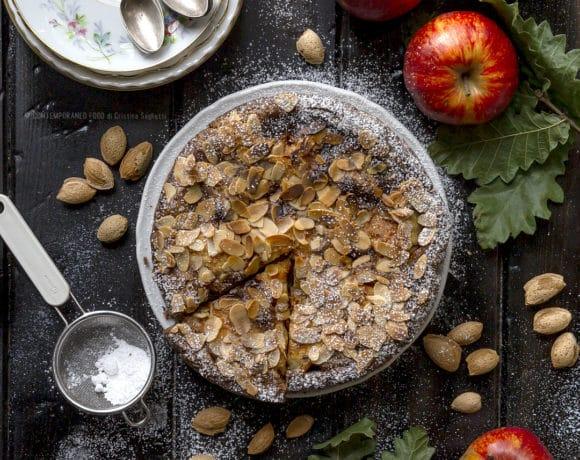 torta-di-mele-alla-normanna-frolla-cacao-crema-di-mandorle-crema-gianduja-merenda-ricetta-facile-dolce-contemporaneo-food
