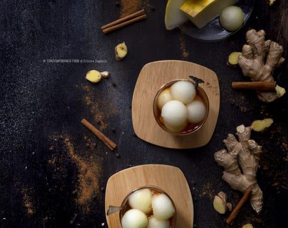 melone-bianco-in sciroppo-di-zenzero-e-spezie-1-dolce-light-frutta-ricetta-facile-contemporaneo-food