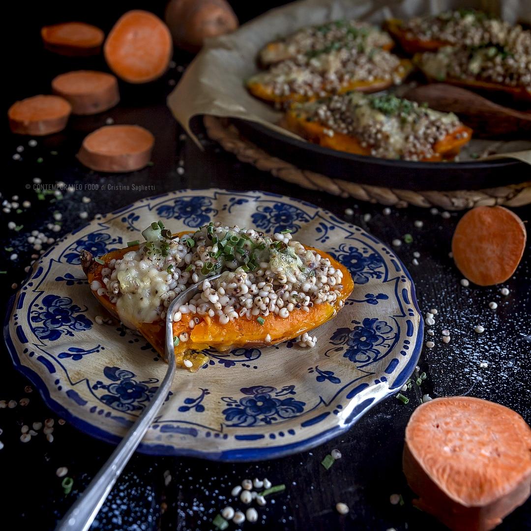 patate-dolci-al-forno-con-sorgo-gorgonzola-primo-piatto-ricette-vegetariane-contemporaneo-food