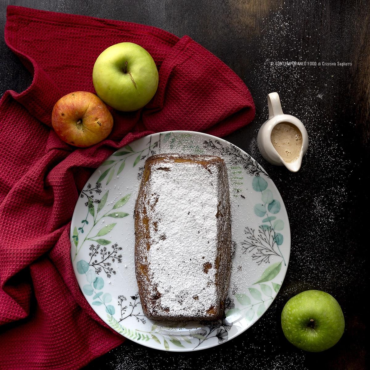 torta-alle-mele-invisibile-cognac-salsa-di-caramello-salato-dolce-facile-ricetta-contemporaneo-food