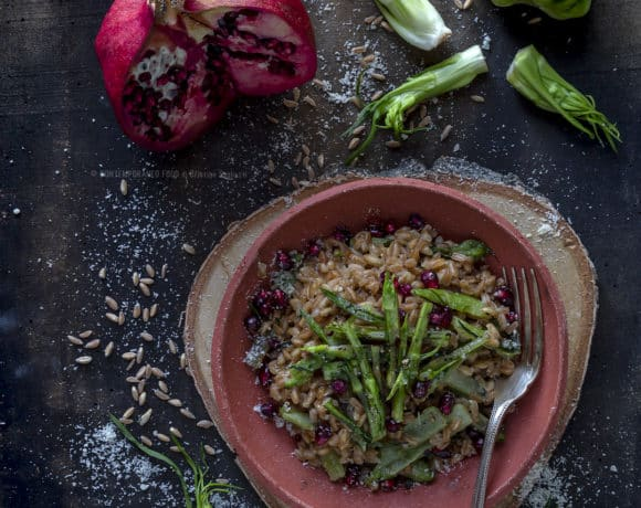 farro-con-puntarelle-romane-melograno-primo-piatto-ricetta-facile-veloce-vegetariana-contemporaneo-food