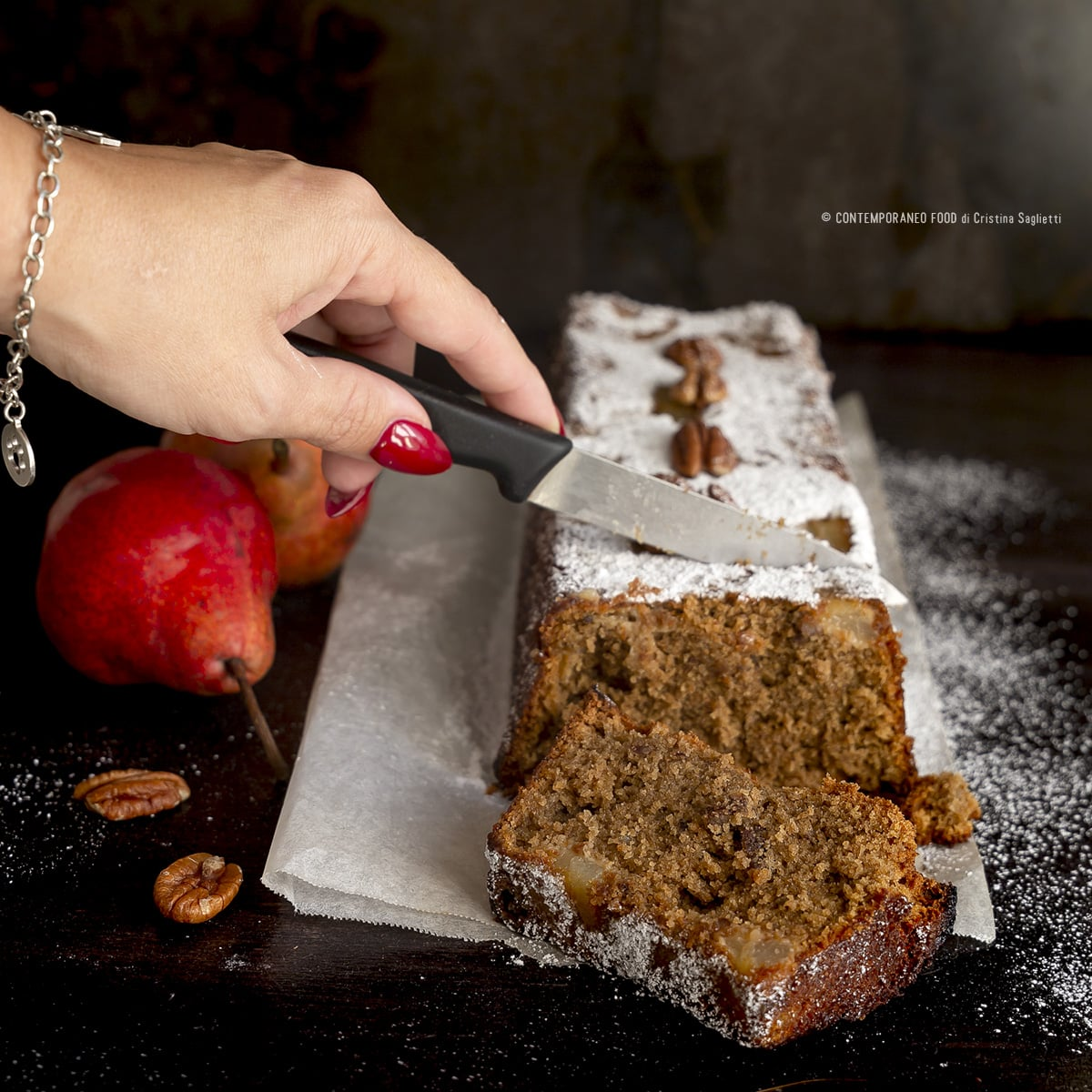 plumcake-farina-di-avena-caffè-noci-pere-farine-alternative-dolce-facile-contemporaneo-food