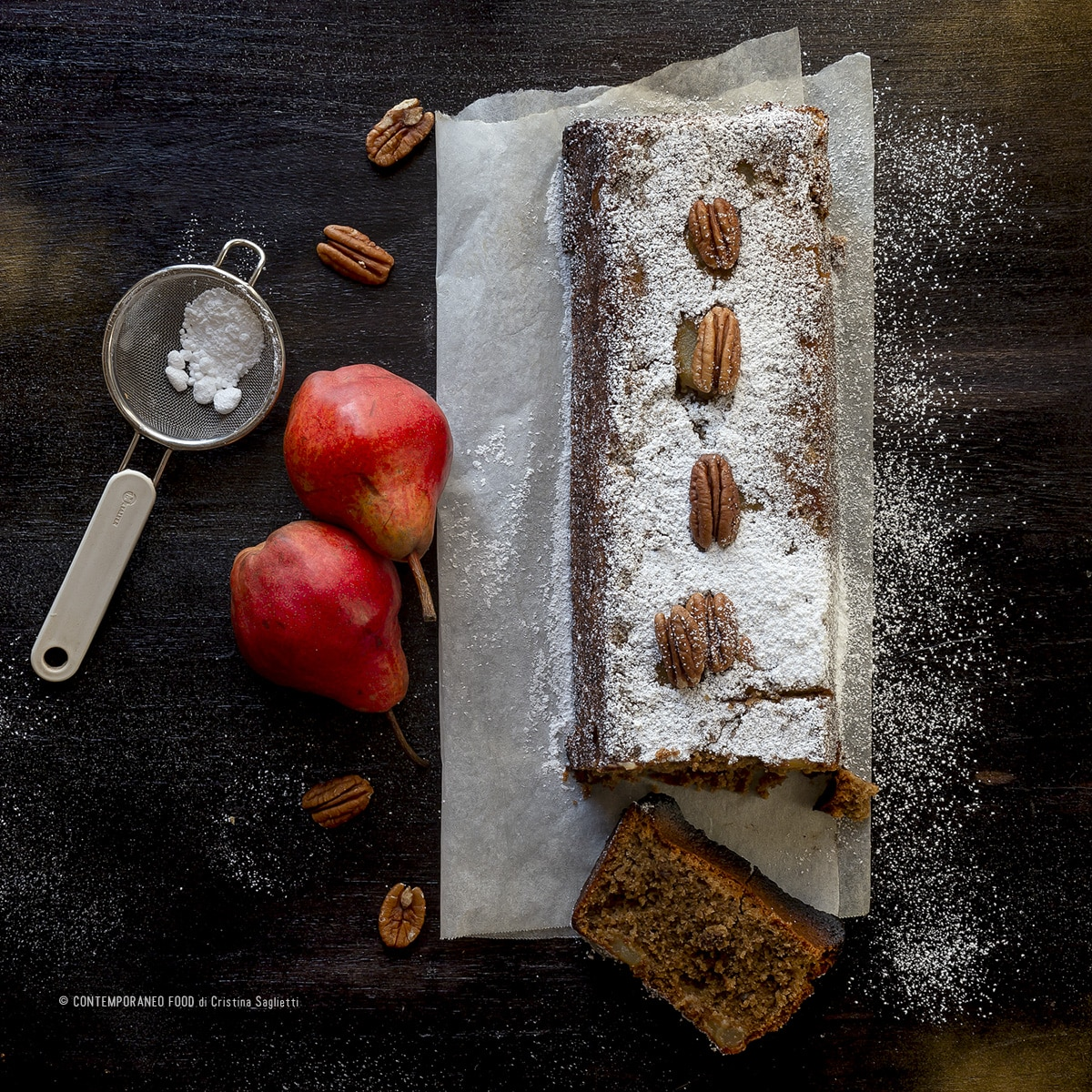 plumcake-farina-di-avena-caffè-noci-pere-farine-alternative-dolce-facile-contemporaneo-food