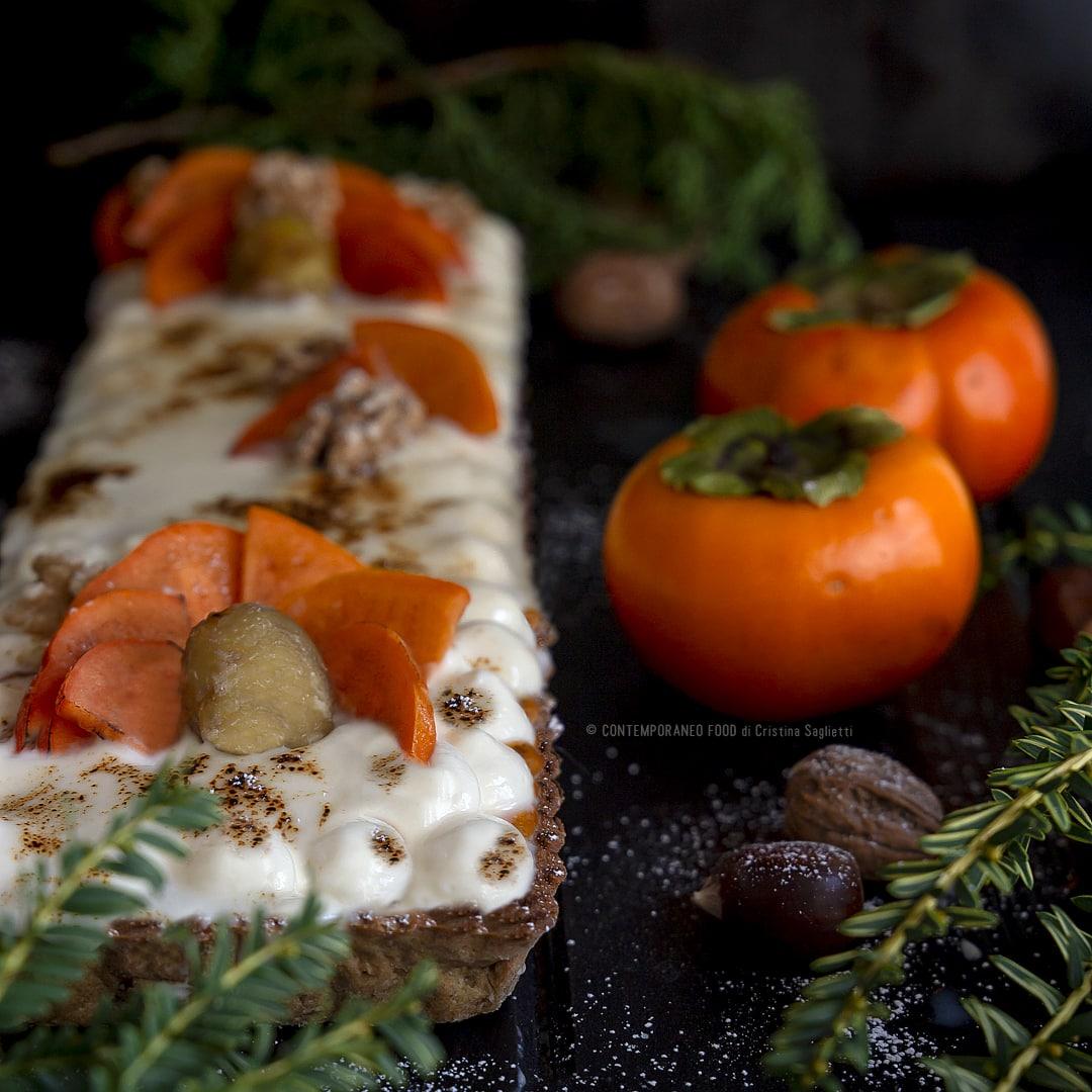 crostata-con-frolla-alla-farina-di-farro-castagne-coulis-di-cachi-al-rum-crema-al-mascarpone-vaniglia-brulé-merenda-dolce-dessert-contemporaneo-food