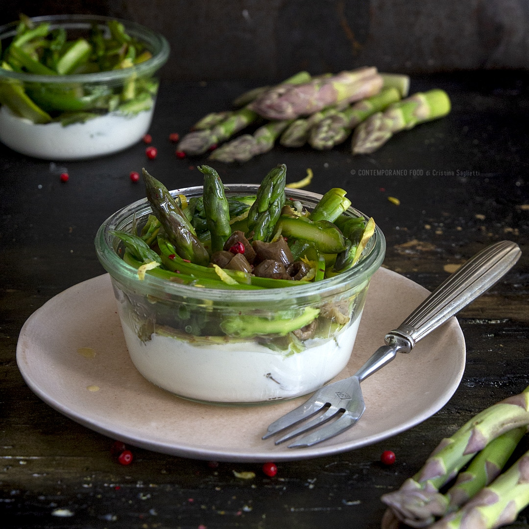 asparagi-marinati-su-crema-di-stracchino-ricetta-light-facile-veloce-vegetariana-contemporaneo-food