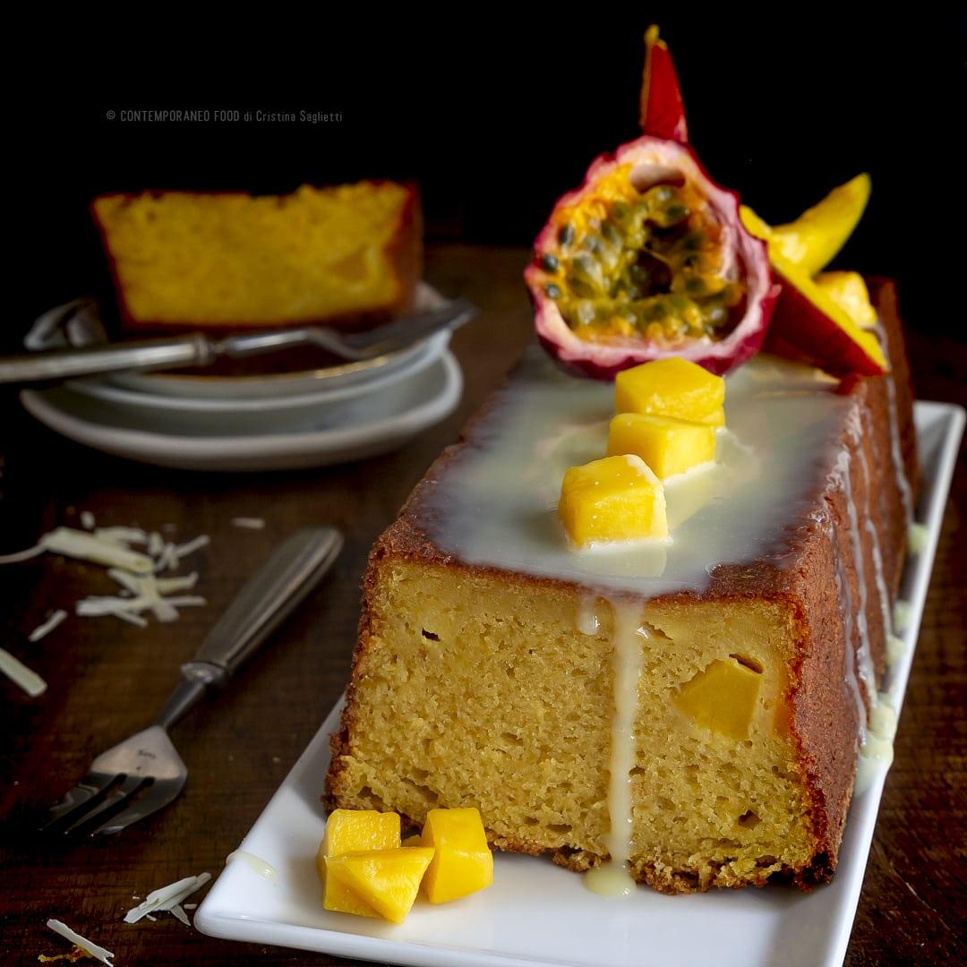 torta-al-mango-frutto-della passione-con-ganache-cioccolato-bianco-rum-dessert-facile-alla-frutta-contemporaneo-food
