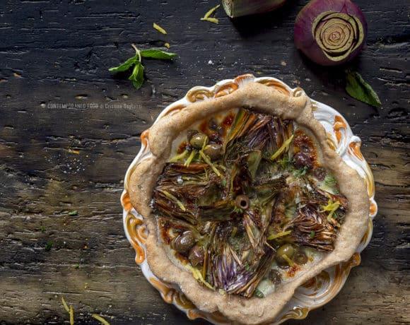 torta-salata-carciofi-olive-limone-con-farina-integrale-antipasto-ricetta-facile-pasqua-pasquetta-contemporaneo-food