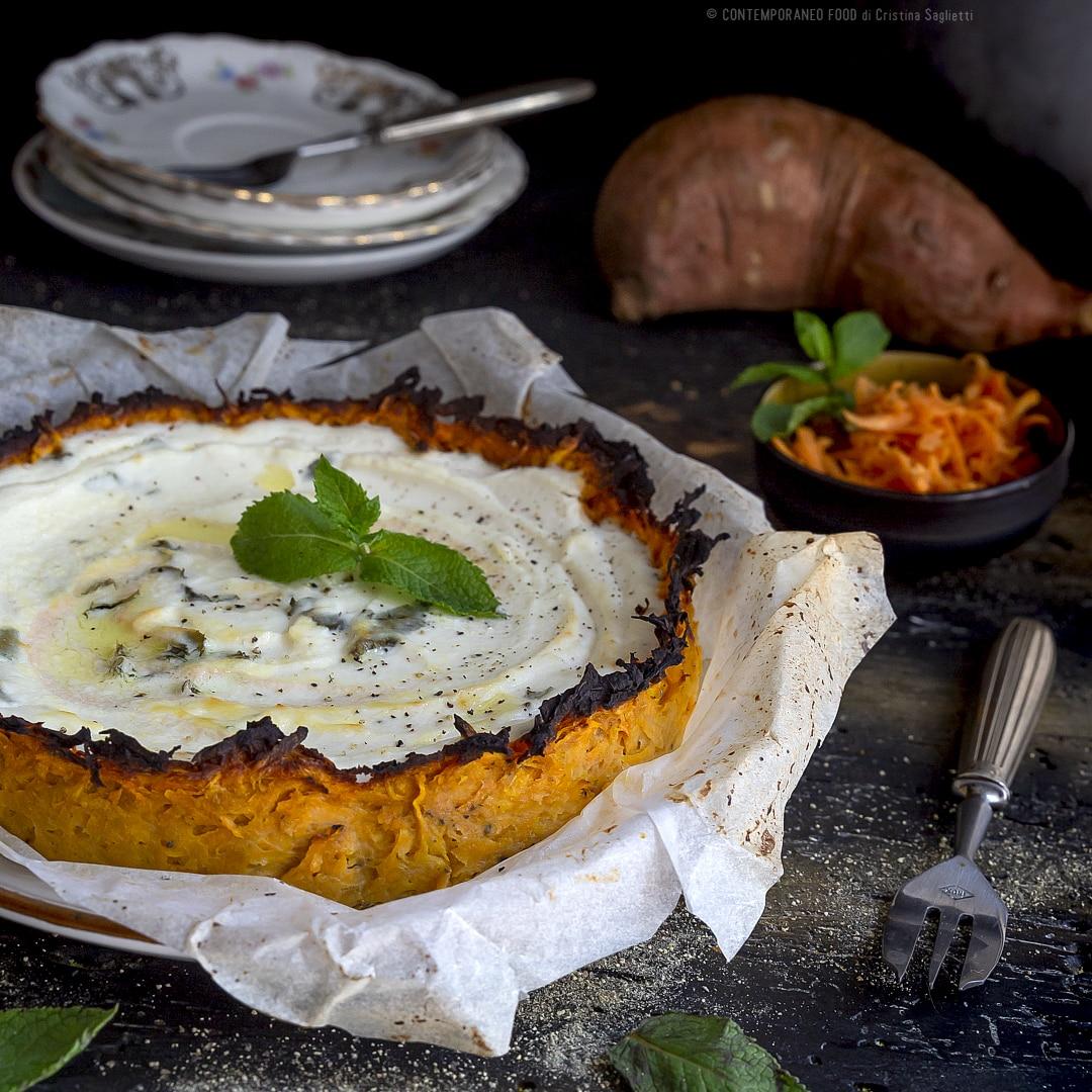 torta-salata-con-crosta-di-patate-dolci-al-formaggio-e-menta-ricetta-ricetta-vegetariana-facile-contemporaneo-food