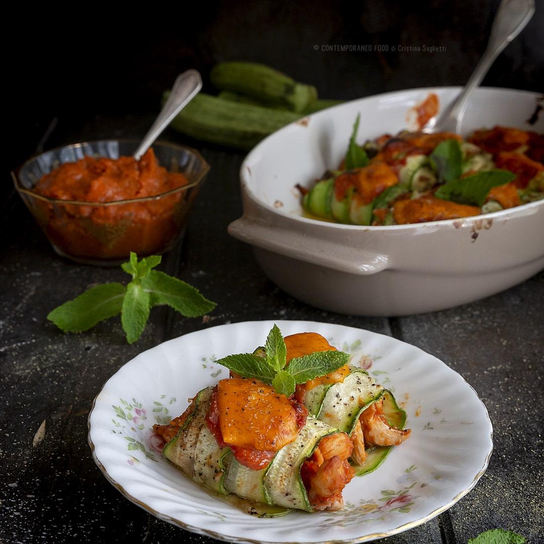 involtini-di-zucchine-con-straccetti-di-pollo-e-salsa-enchilada-secondo-di-carne-facile-estivo-contemporaneo-food