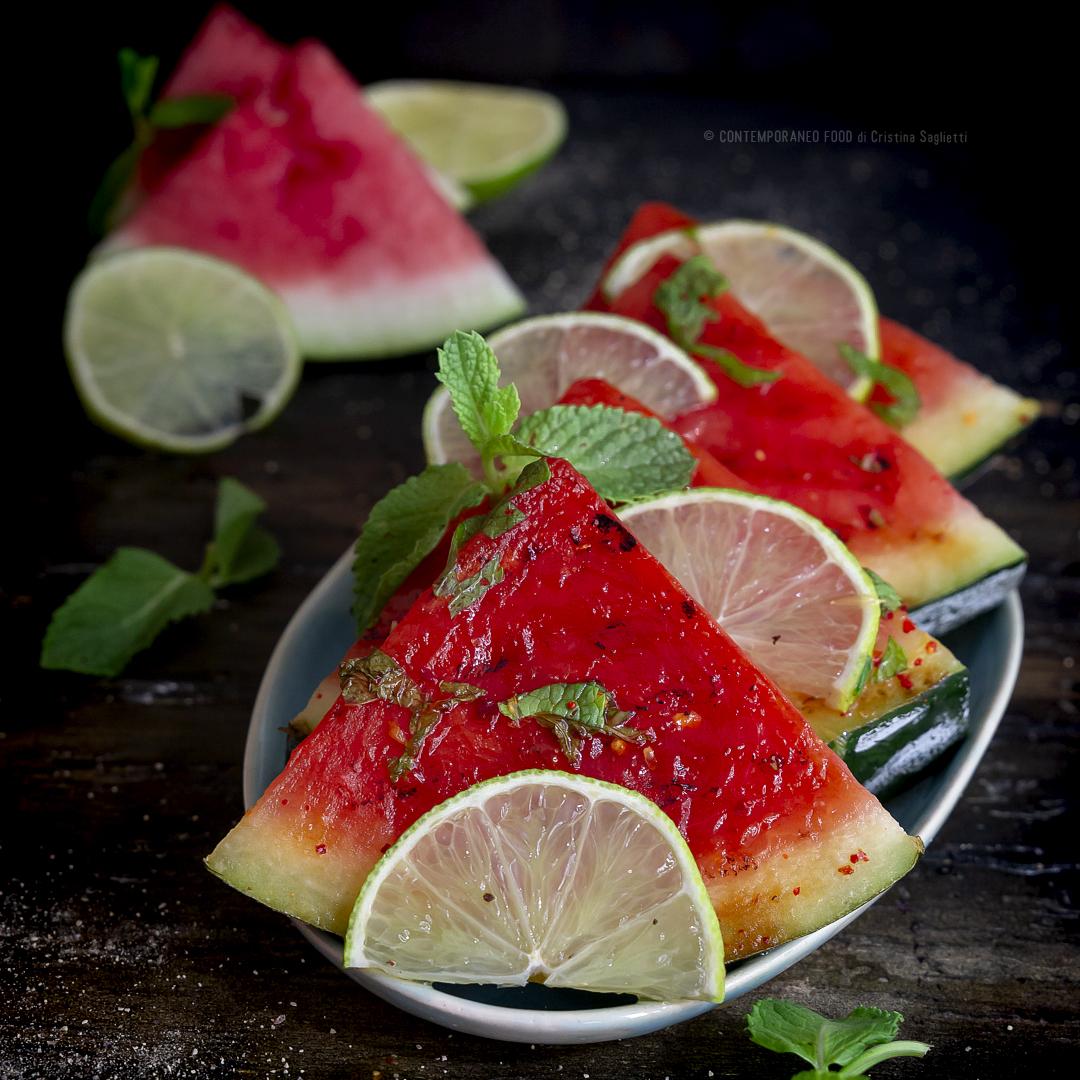 anguria-piastrata-lime-miele-menta-ricetta-estiva-ricetta-facile-veloce-contemporaneo-food