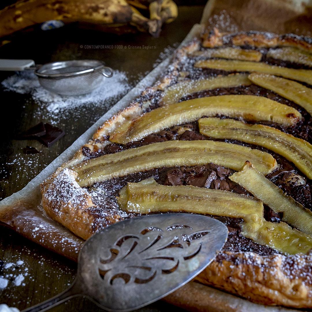 sfoglia-banane-cioccolato-cannella-torta-facile-veloce-merenda-contemporaneo-food