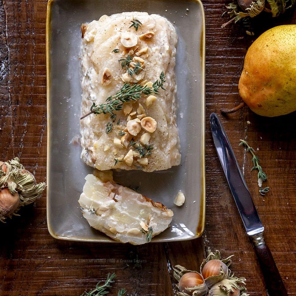 pere-fondenti-gorgonzola-nocciole-antipasto-facile-vegetariano-contemporaneo-food