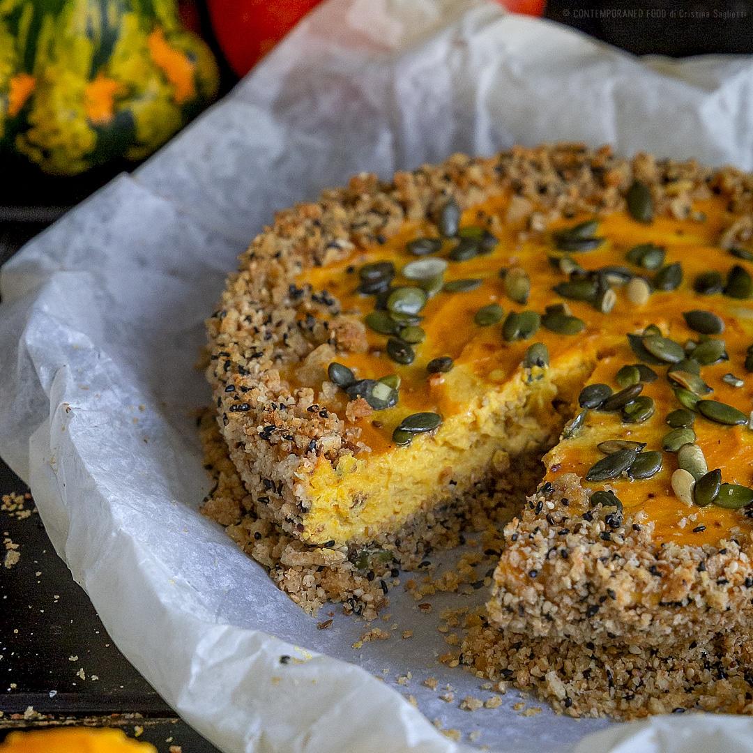 cheesecake-salata-alla-zucca-con-base-di-crackers-integrali-sesamo-cumino-torta-salata-facile-contemporaneo-food