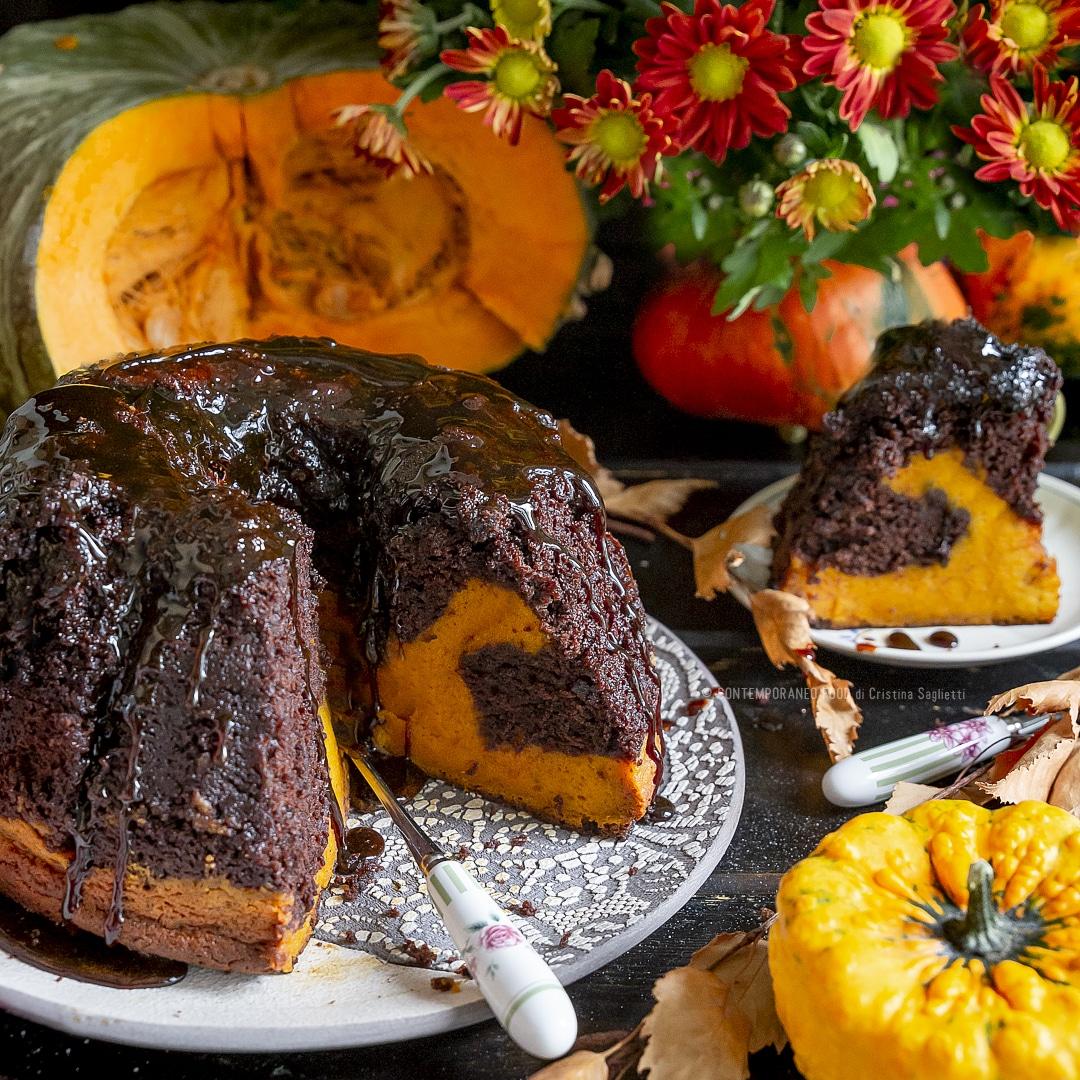 torta-flan-cioccolato-fondente-zucca-vaniglia-brownie-merenda-contemporaneo-food
